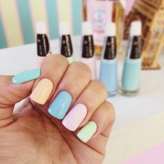 Unha Candy Color com esmaltes da Bruna Marquezine para Ludurana