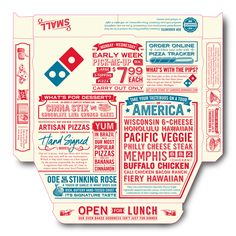 Dominoes Pizza illustrations created by Steven Noble