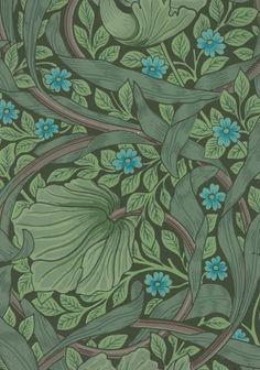 Sanderson wallpaper, based on Wm Morris design