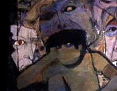 "(Title Unknown) by Tom Wright. Unused painting for unproduced episode. It was most likely for either season 1 or 2, as it appears in the opening credits for those seasons. Note: considering its subject, it may have been an alternate canvas for season 2's ""The Different Ones."" Tom Wright, Night Gallery, Opening Credits, Artists Like, Macabre, Van Gogh, All Art, Horror, Art Gallery"