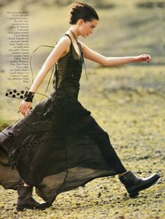 Love combat boots with feminine skirts!