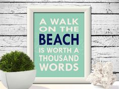 A walk on the beach is worth a thousand words. INSTANT DOWNLOAD by KittyLovesLou.