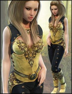 Leather Fantasy Armor Textures | Clothing and Accessories Textures for Daz Studio