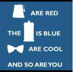 Awesome Valentine as a reference to the amazing tv show: Doctor Who!!