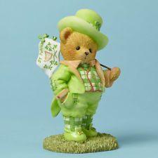 CHERISHED TEDDIES Bear Figurine St. Patrick's Day 4044688 ST.