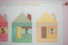 Paper Pieced Houses