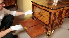 Watch the videos of this extraordinary furniture built by the father and son team of Abraham and David Roentgen, between 1742 and the early 1800s.