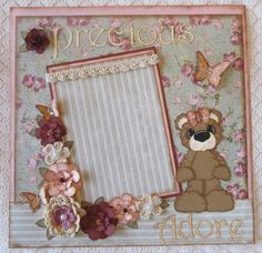 Vintage Scrapbooking Ideas | Scrapbook Page Girl Vintage Shabby Chic b... | Paper Crafts Ideas