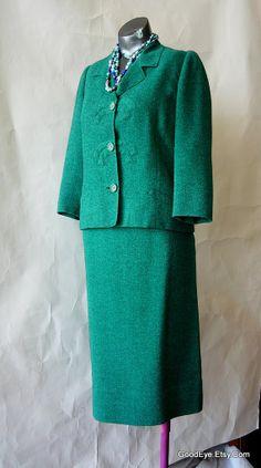 Vintage Wool Skirt Suit