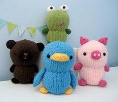 Knit Animal Friends Pattern Set