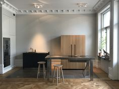 Bulthaup B2 kitchen in Stockholm. Closed cabinet.