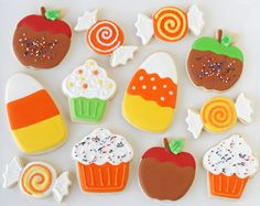 Caramel Apple Decorated Cookies and Other Sweet Treats via #TheCookieCutterCompany