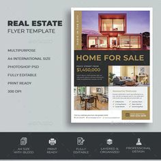 Presentation Magazine, Promotion, Annual Report Covers, Real Estate Flyer Template, Real Estate Flyers, Brochure Layout, Marketing, Business Brochure, Layout Design