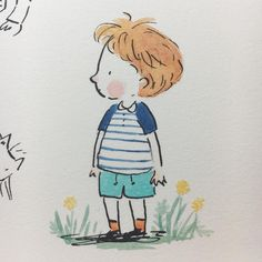 I'm back at my desk after a lovely couple of days relaxing in the garden. How was your weekend? ☀️ #kidlitart #dailydoodle #beckycameronsketchbook #sketchbook