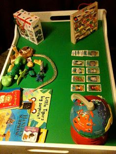 I like this idea to use a tray as a permanent holder for small items. Little Boy Blue Toddle School: Toddle Table Tuesdays fab post! Little Boy Blue, Big Little, Rainy Day Activities For Kids, Kids Things To Do, Cool Kids, Holiday Decor, School, Table, Fun