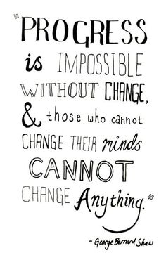 progress and change quote