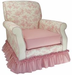 Pink - Toile Nursery Glider at Jack and Jill Boutique