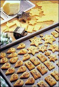 Slané sýrové pečivo 2 Slovak Recipes, Czech Recipes, I Chef, Salty Snacks, How To Make Bread, Healthy Baking, Christmas Baking, Finger Foods, Food And Drink