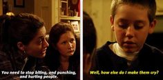 Shameless Carl is so funny as inflicting pain on someone or something
