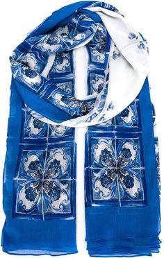 1801208db664b Dolce   Gabbana  Majolica  scarf Dolce   Gabbana