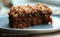 """""""Best coffeecake ever"""" the healthy way w/ whole wheat, maple syrup & almond milk."""