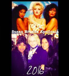 SUSAN MOONSIE WITH HER FORMER APOLLONIA 6 GROUP MEMBERS