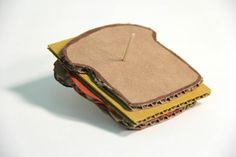 Cardboard sculpture of a sandwich