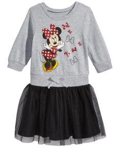 abbebd335522e Minnie Mouse Graphic-Print Popover Dress, Little Girls (4-6X) - Gray 6X
