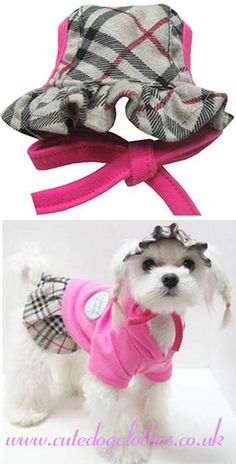 Pink Burberry Dog Hat