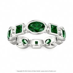 Green Tourmaline Ring at Colors of Eden #whitegold #wedding #band #customizable #jewelry