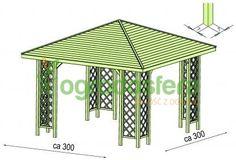 Altana drewniana Ewa 3000 x 3000 Backyard Gazebo, Thing 1, Outdoor Structures, Courtyards, Backyard Pavilion