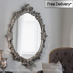 Mary Oval Silver Mirror 127 x 89 cm [EE1552] - �140.06 - Mirrors for Every Interior from Exclusive Mirrors