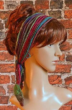 (4) Name: 'Crocheting : Crochet Headband Hairband Boho