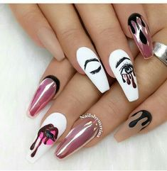 Acrylic Coffin Nails Designs In Summer Awesome Acrylic Coffin Nails Designs In Summer - Nail Art Connect Acrylic Coffin Nails Designs In Summer - Nail Art Connect Drip Nails, Gel Nails, Coffin Nails, Summer Acrylic Nails, Best Acrylic Nails, Summer Nails, Cute Acrylic Nail Designs, Nail Art Designs, Cute Nails