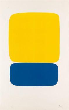 Ellsworth Kelly, Yellow over Dark Blue