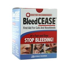 BleedCEASE First Aid for Cuts and Nosebleeds Sterile Packings - 25 ea