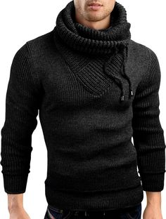 Grin&Bear Slim Fit shawl collar knit sweatshirt cardigan hoodie, black, S, GEC555