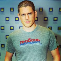 Wentworth Miller and HRC support Russia's #LGBT community. Join us! #LoveConquersHate  loveconquershate.org