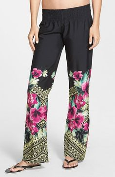 Rip+Curl+'Spanish+Garden'+Beach+Pants+(Juniors)+available+at+#Nordstrom