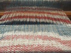 Tessuto in lino dipinto a mano #handweaving #designtexiles #artespalermo #loom # giuliettasalmeri #linen