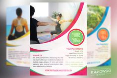 Your Yoga Flyer Template by Krukowski Graphics on @creativemarket