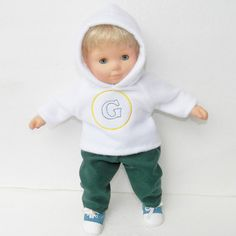 bitty baby clothes boy 15 twin doll hoodie by adorabledolldesigns