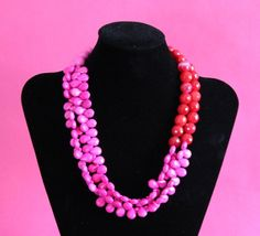 Red & Pink Vintage by NobleHouseDesigns on Etsy, $130.00