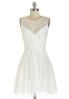 Tread Sprightly Dress. Sometimes, liveliness spans beyond your attitude and right into your style. #white #promNaN