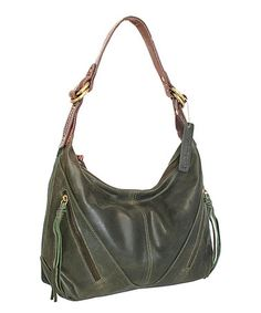 Loving this Pine Rodeo Leather Hobo on #zulily! #zulilyfinds