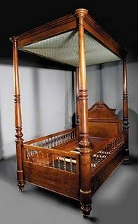 An Antebellum New Orleans full tester baby bed