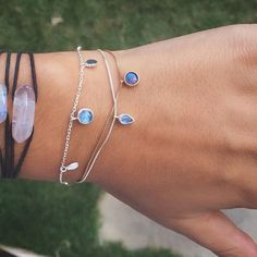 S T A C K S | on  The Rose Quartz Connector Selene Bracelet Asteria Bracelet…