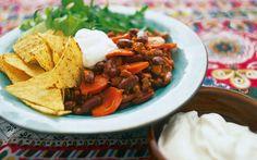 Snabb chili med chorizo Chorizo, Chili, Hummus, Tacos, Mexican, Favorite Recipes, Ethnic Recipes, Food, Chile