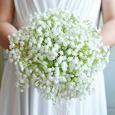 Ansuma Baby's Breath Bride Bridesmaid Wedding Bouquet with Satin Ribbon Lace Bow Tie Holding Flower. Dazzling bride bouquet adds romance and magnificence to your wedding, making the bride more elegant. Cheap Wedding Bouquets, Bride Bouquets, Wedding Bridesmaids, Silk Flower Bouquets, Flower Bouquet Wedding, Floral Wedding, Silk Flowers, Wedding Dress, Gypsophila Wedding