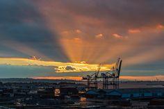 2013-12 Change of scenery sunset Brooklyn. #toptravelspot #brooklyn #sunset #newyork #nyc #usa #photography #travel  #travelling #instatraveling #ship #orange